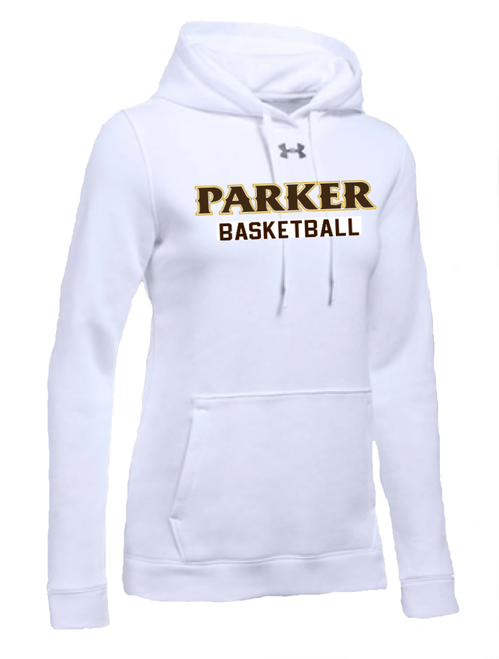 "Ladies Hustle Fleece Hoody - ""PARKER BASKETBALL"" [colors: carbon, heather, white]"