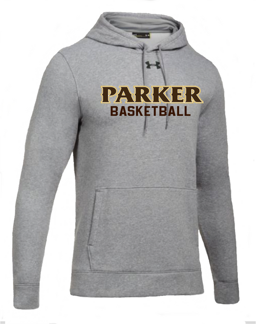 "Men's Hustle Fleece Hoody - ""PARKER BASKETBALL"" [colors: carbon,  heather)"