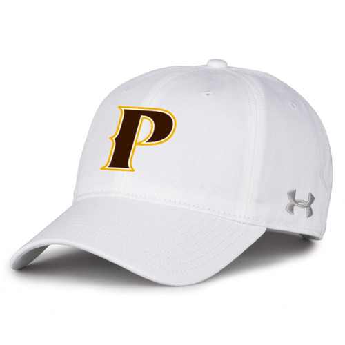 """Adult Garment Washed Twill Cap - """"P"""" or """"SHIELD"""" [colors: gray, white]"""