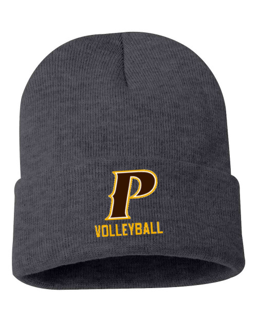 "Cuffed Knit Beanie - ""P-VOLLEYBALL"""