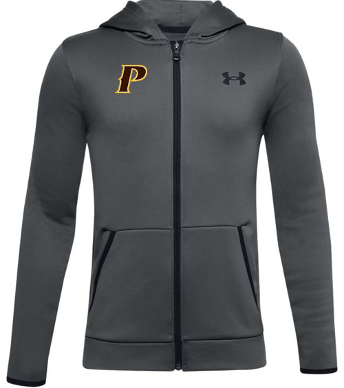"""Youth Armour Fleece Full Zip - """"P"""" or """"SHIELD"""" [colors: carbon, heather]"""