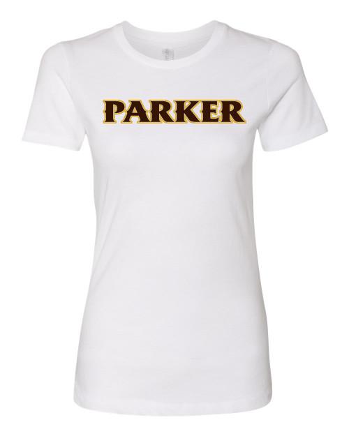"""Ladies Cotton SS Crew - """"PARKER"""" [colors: carbon, gold, heather, white]1"""