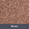 "Iron-on Brown Glitter 19.75"" x 12"""