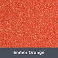 "Iron-on Ember Orange Glitter 19.75"" x 12"""
