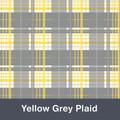 "Yellow and Grey Plaid  MATTE Permanent  Vinyl 12""x  12"""