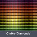 """Ombre Diamonds  MATTE Permanent  Vinyl 12""""x  12"""""""