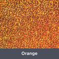 "Iron-on Orange Holographic 9.875"" x 12"""""