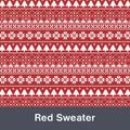 "Red Sweater MATTE Permanent  Vinyl 12""x  12"""