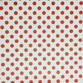 "Red Polka Dot on White (Gloss) 12""x12"""