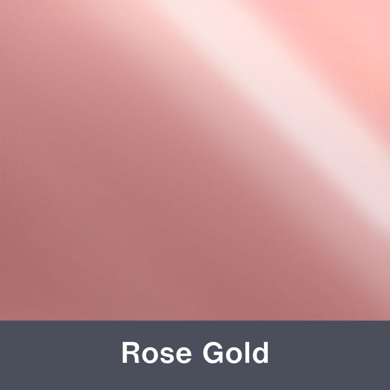 "Iron-on Rose Gold Stretch 12"" x 14.75"""