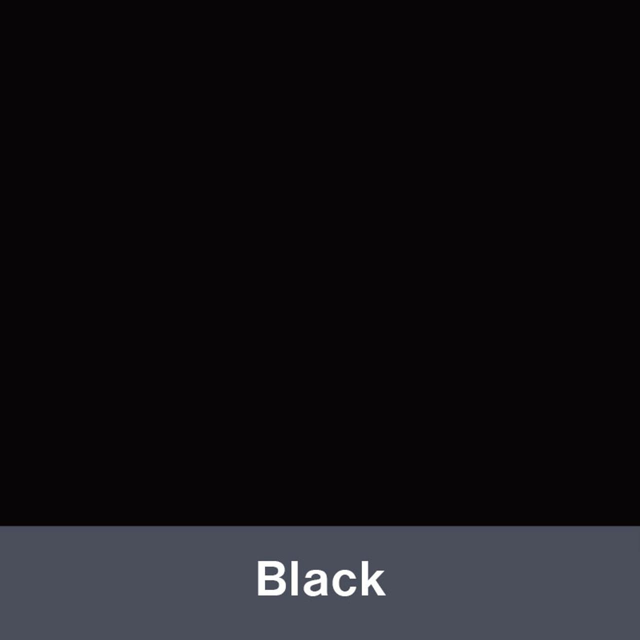 "Iron-on Black 12"" x 14.75"""