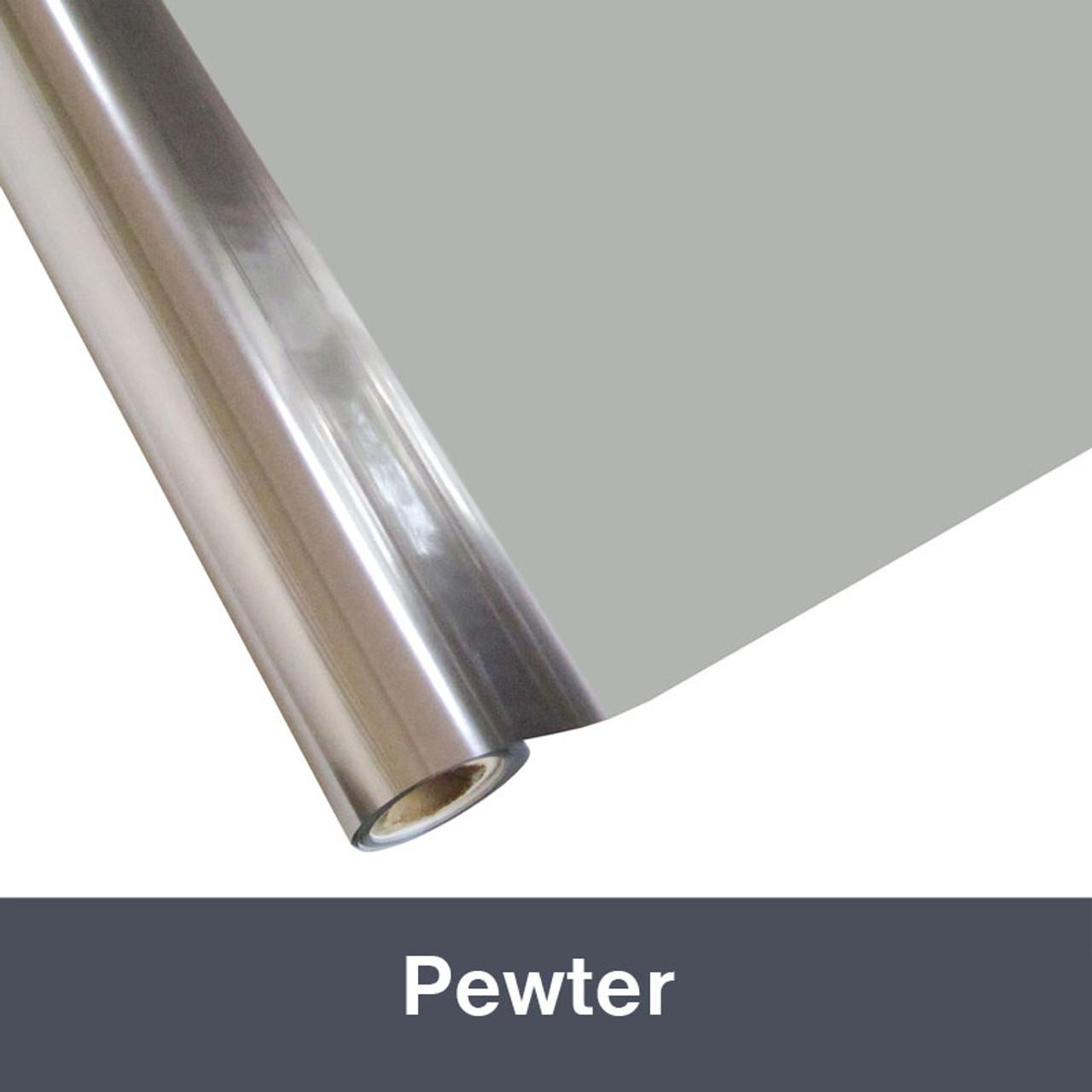 """Pewter Textile Foil 12"""" x 1 yd"""