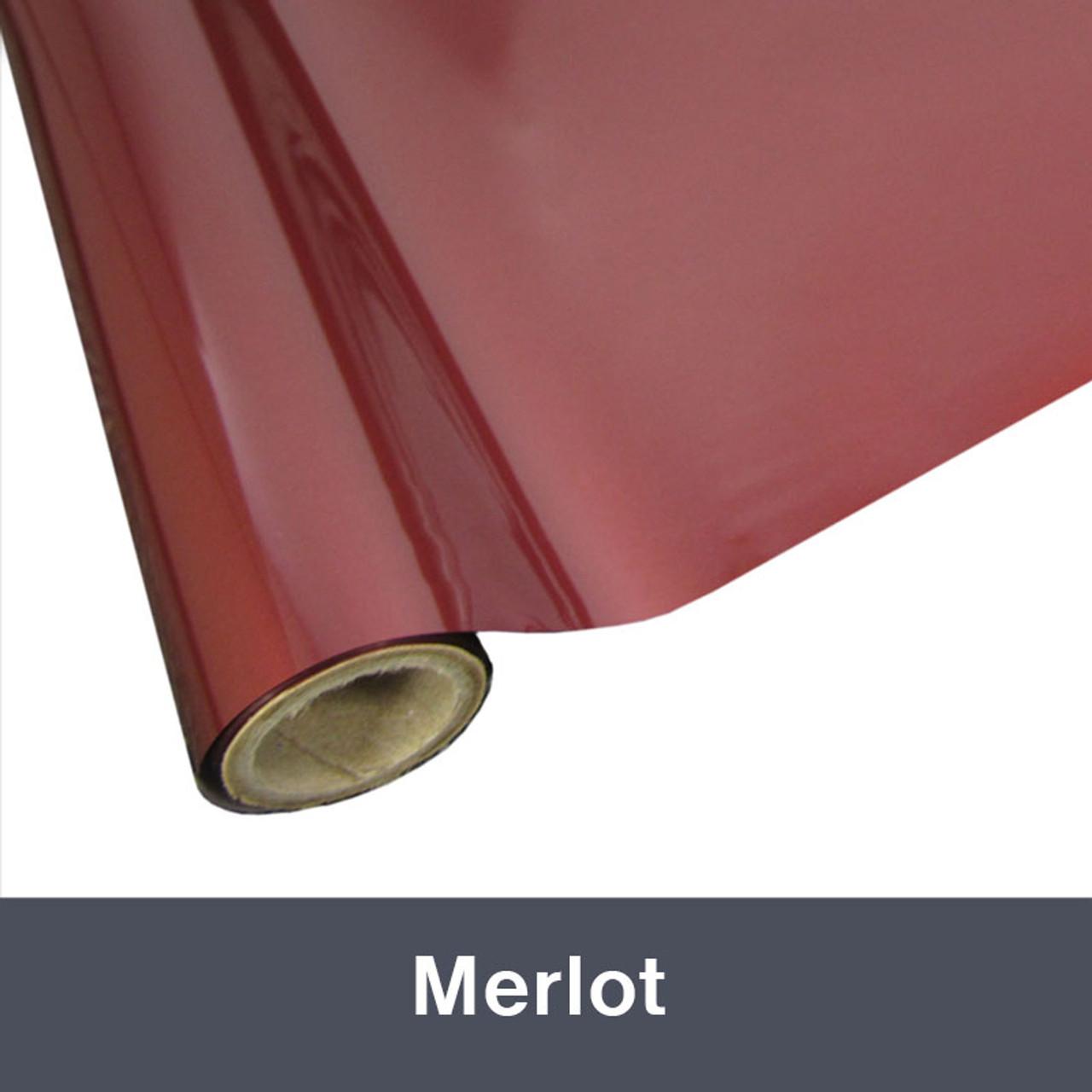 """Merlot Textile  Foil 12"""" x 1 yd"""