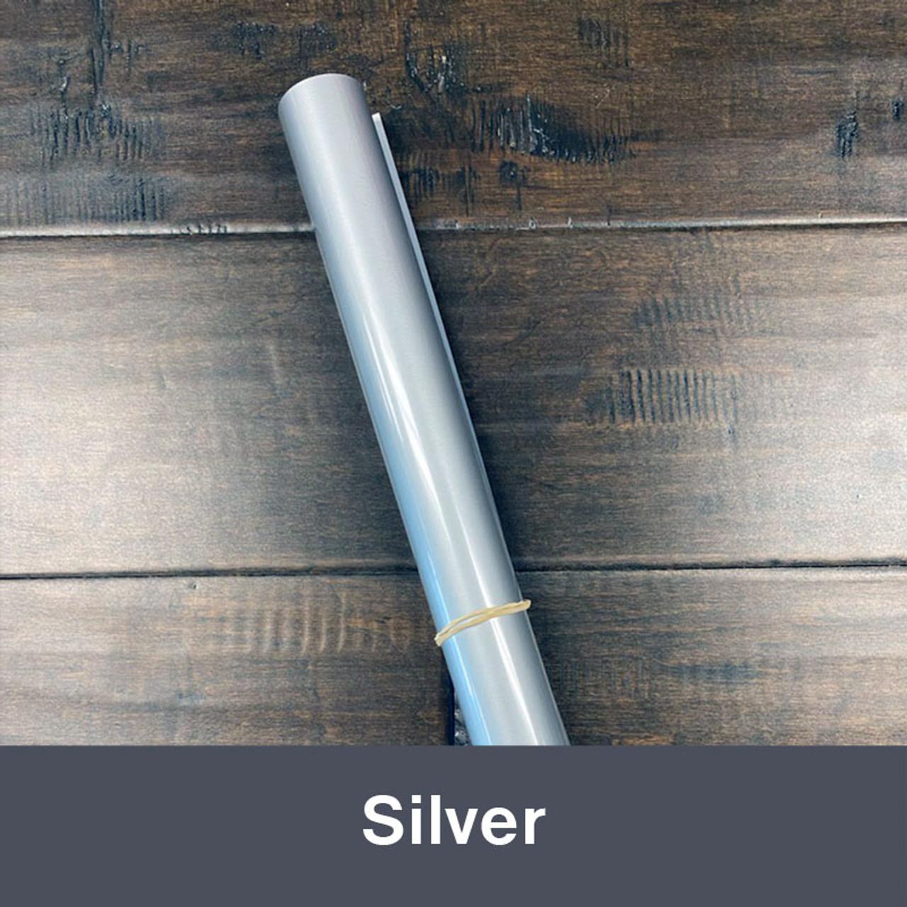 """Iron-on Silver 14.75"""" x 36"""" (1yd)"""