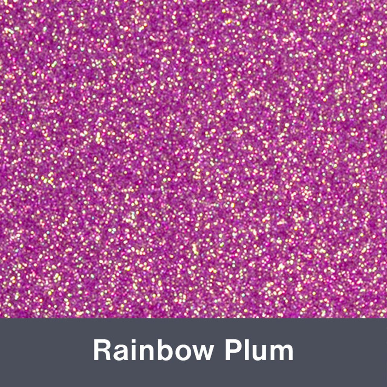 """Iron-on Rainbow Plum Glitter 19.75"""" x 12"""""""