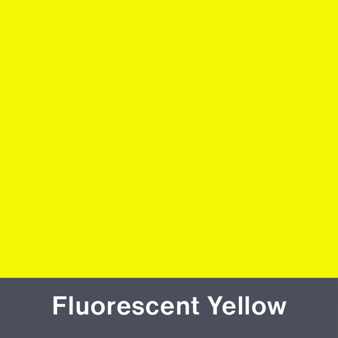 "Iron-on Fluorescent Yellow 12"" x 14.75"""