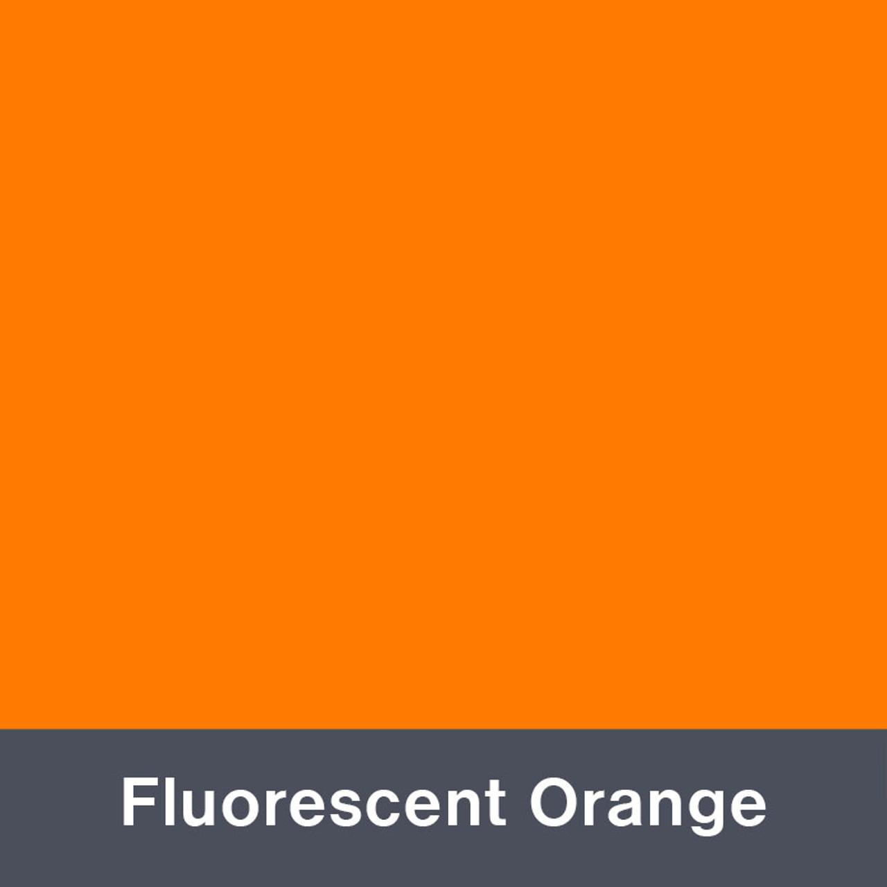 "Iron-on Fluorescent Orange 12"" x 14.75"""