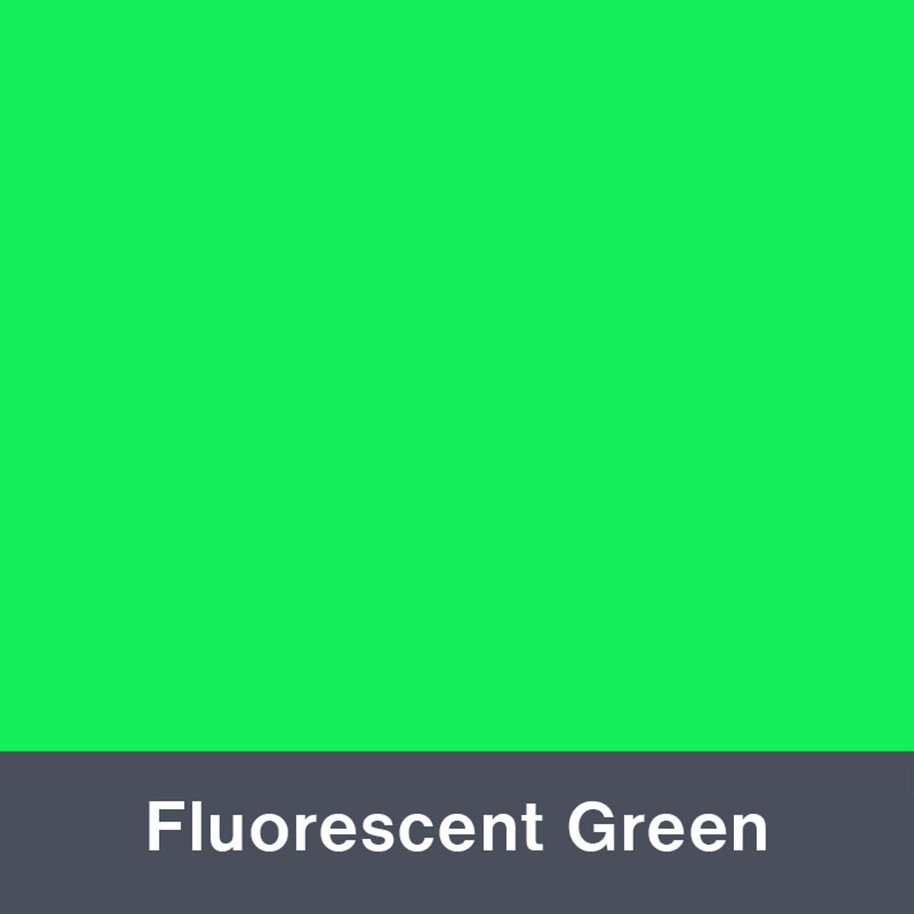 "Iron-on Fluorescent Green 12"" x 14.75"""