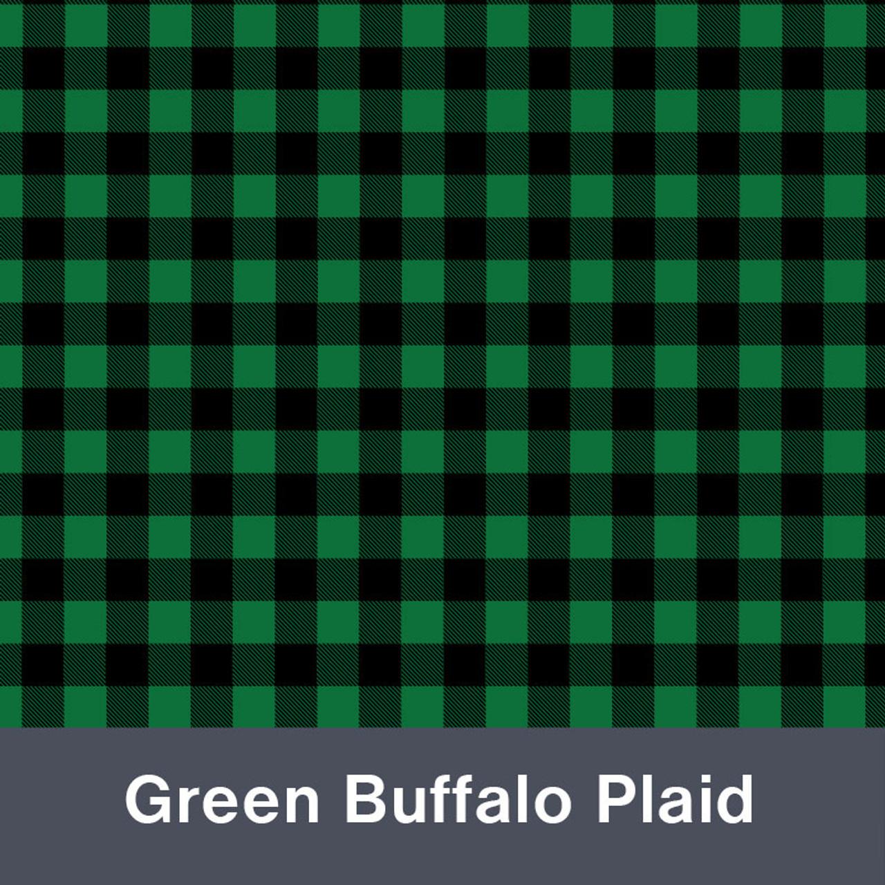 "Black & Green Buffalo Plaid MATTE Permanent  Vinyl 12""x  12"""