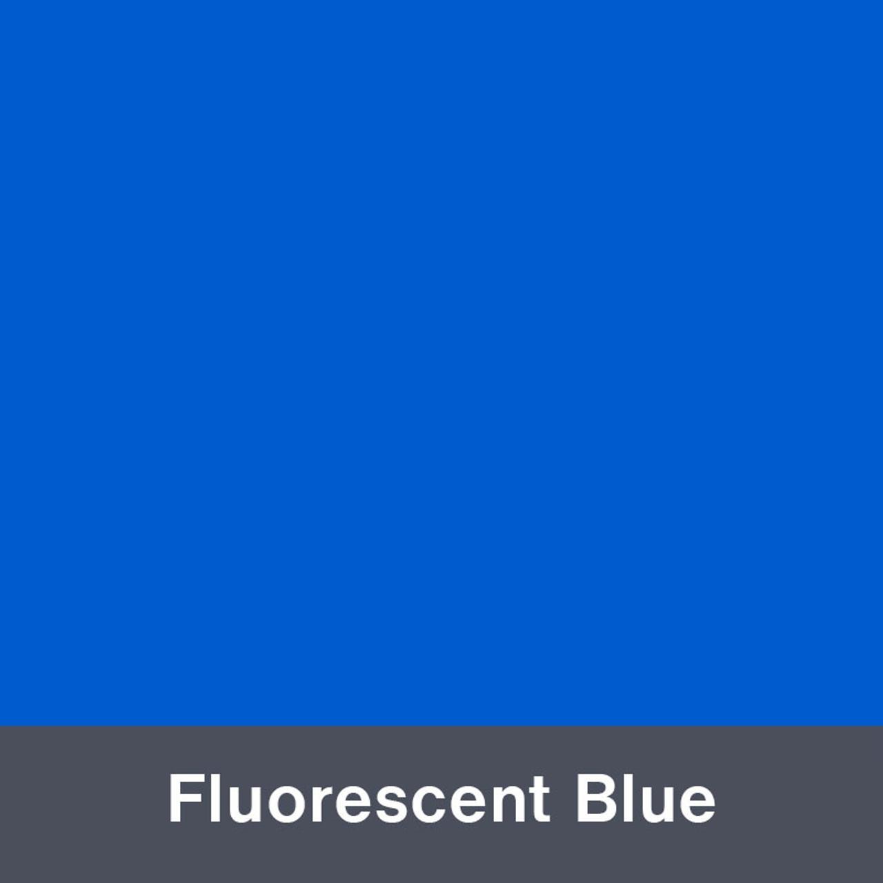 "Iron-on Fluorescent Blue 12"" x 14.75"""