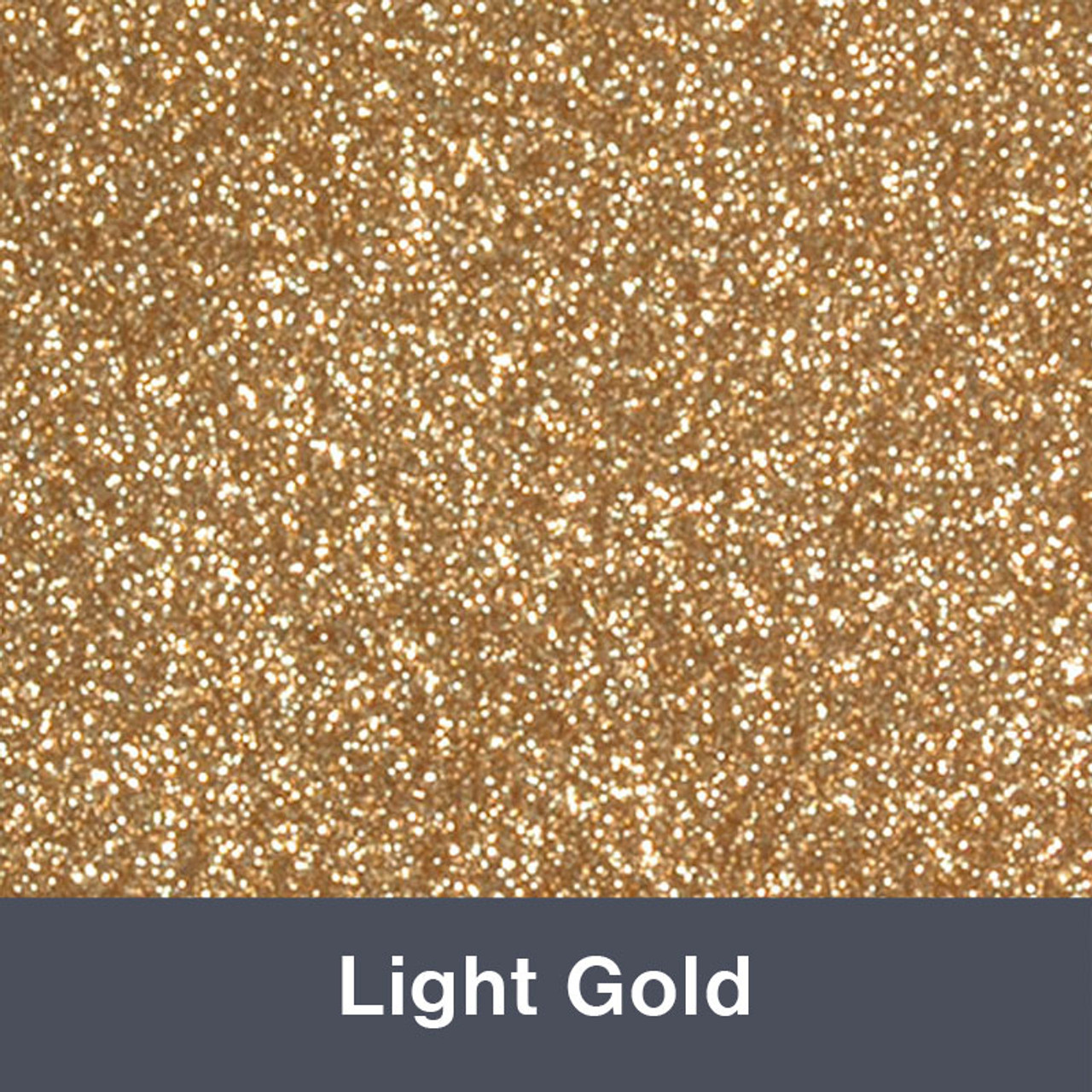 "HTV Light Gold Glitter (425) 19.75"" x 12"""