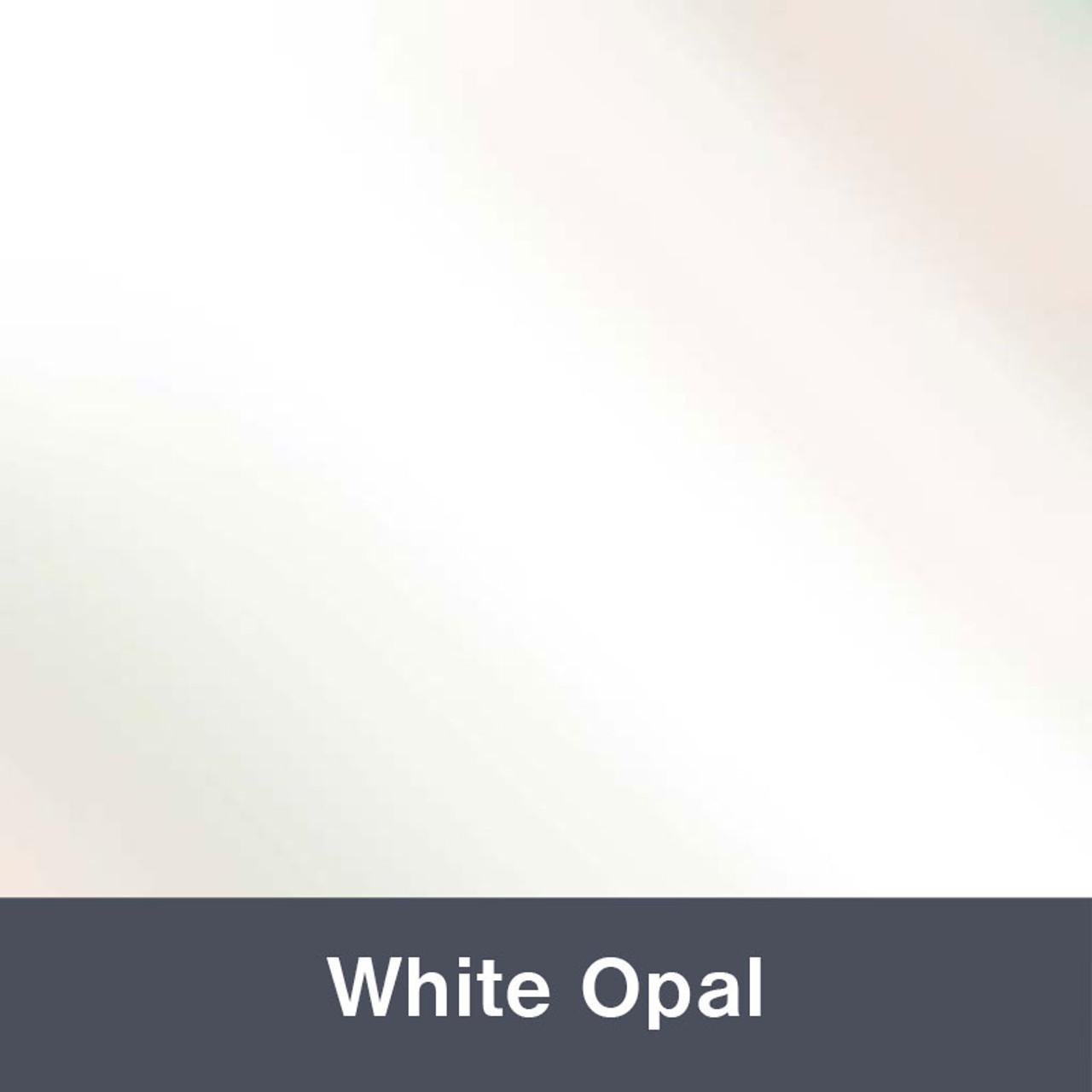 "Iron-on White Opal Electric 12"" x 14.75"""