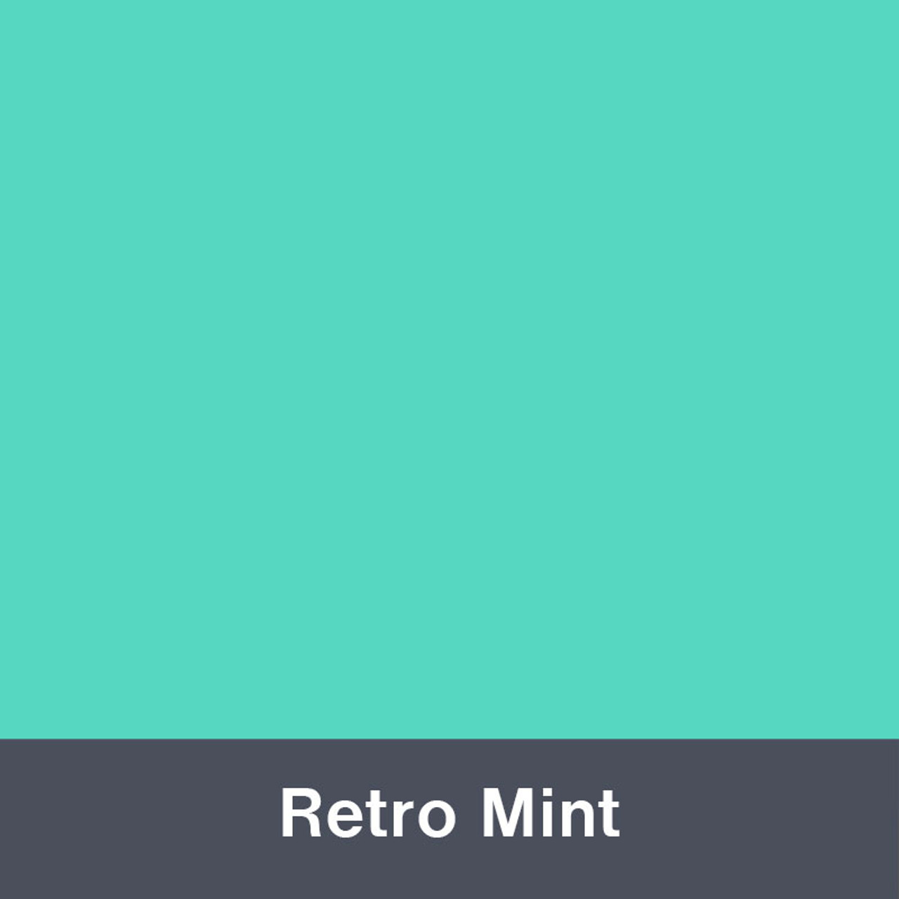 "Iron-on Retro Mint 12"" x 14.75"""