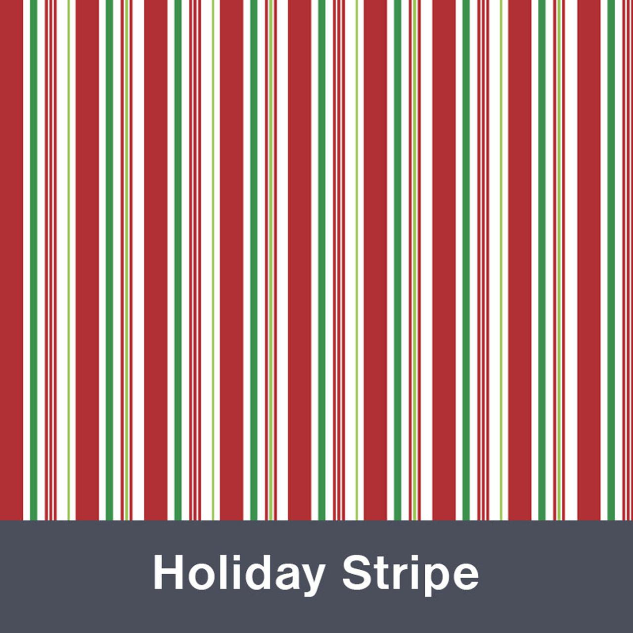 "Holiday Stripe MATTE Permanent  Vinyl 12""x  12"""