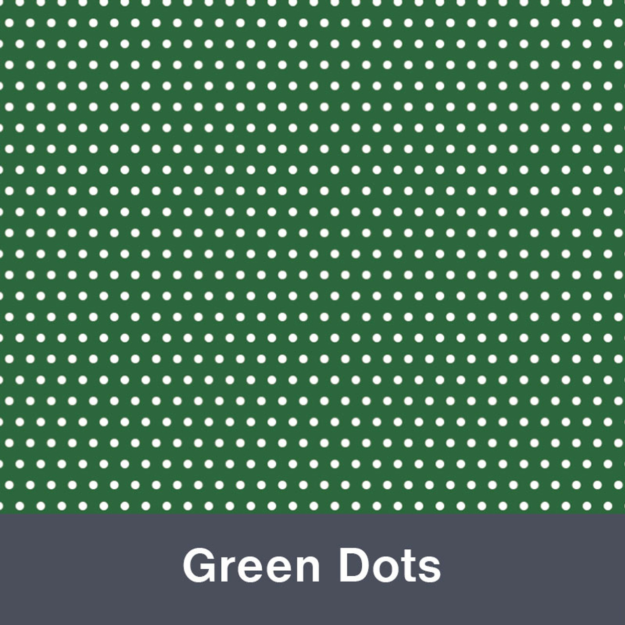 "Green Dots MATTE Permanent  Vinyl 12""x  12"""
