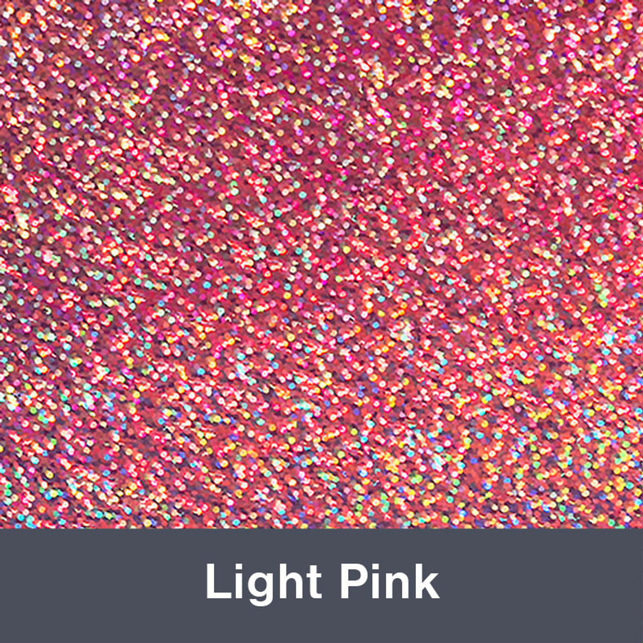 "Iron-on Light Pink Holographic 9.875"" x 12"""