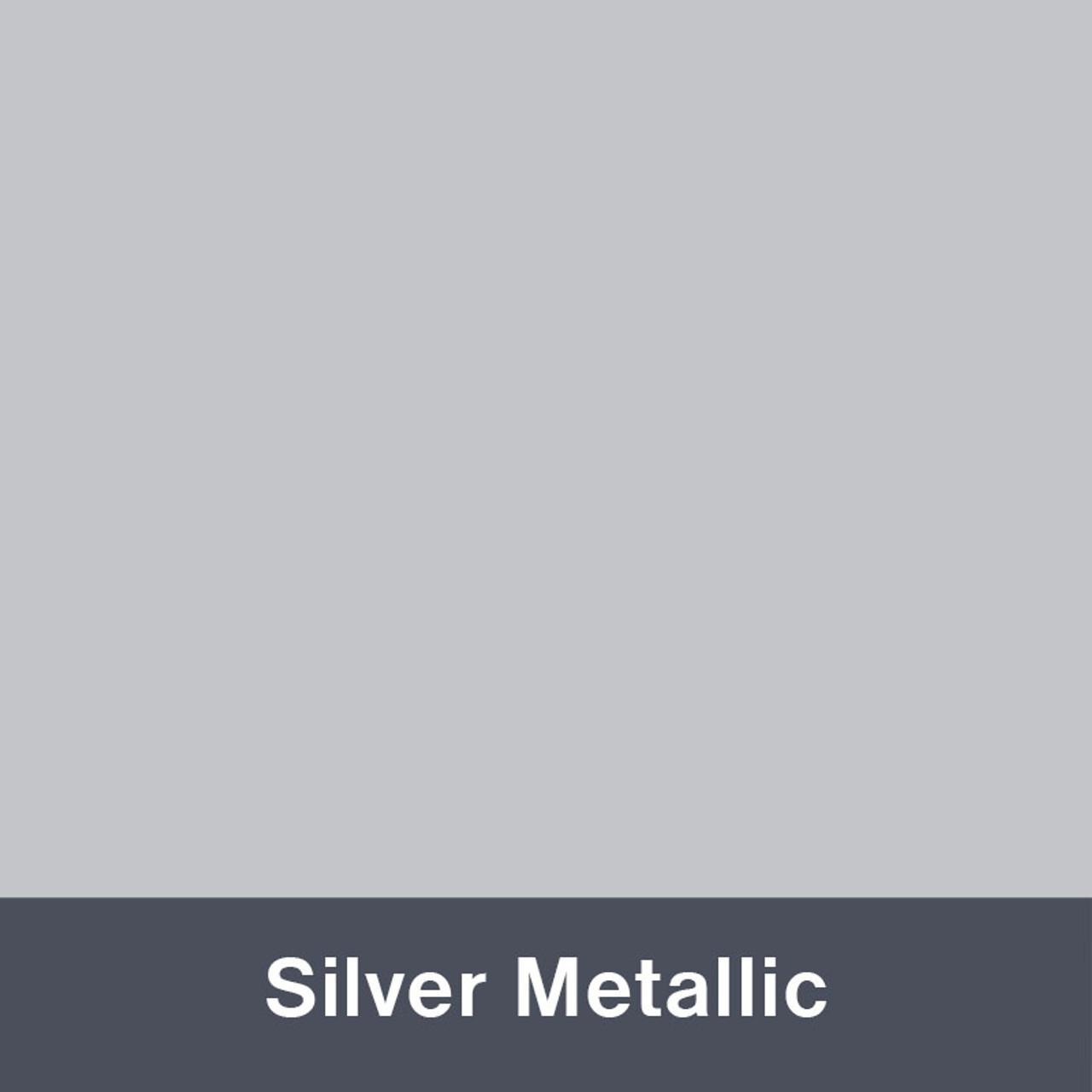 "Silver Metallic (Gloss) 12"" x 24"""