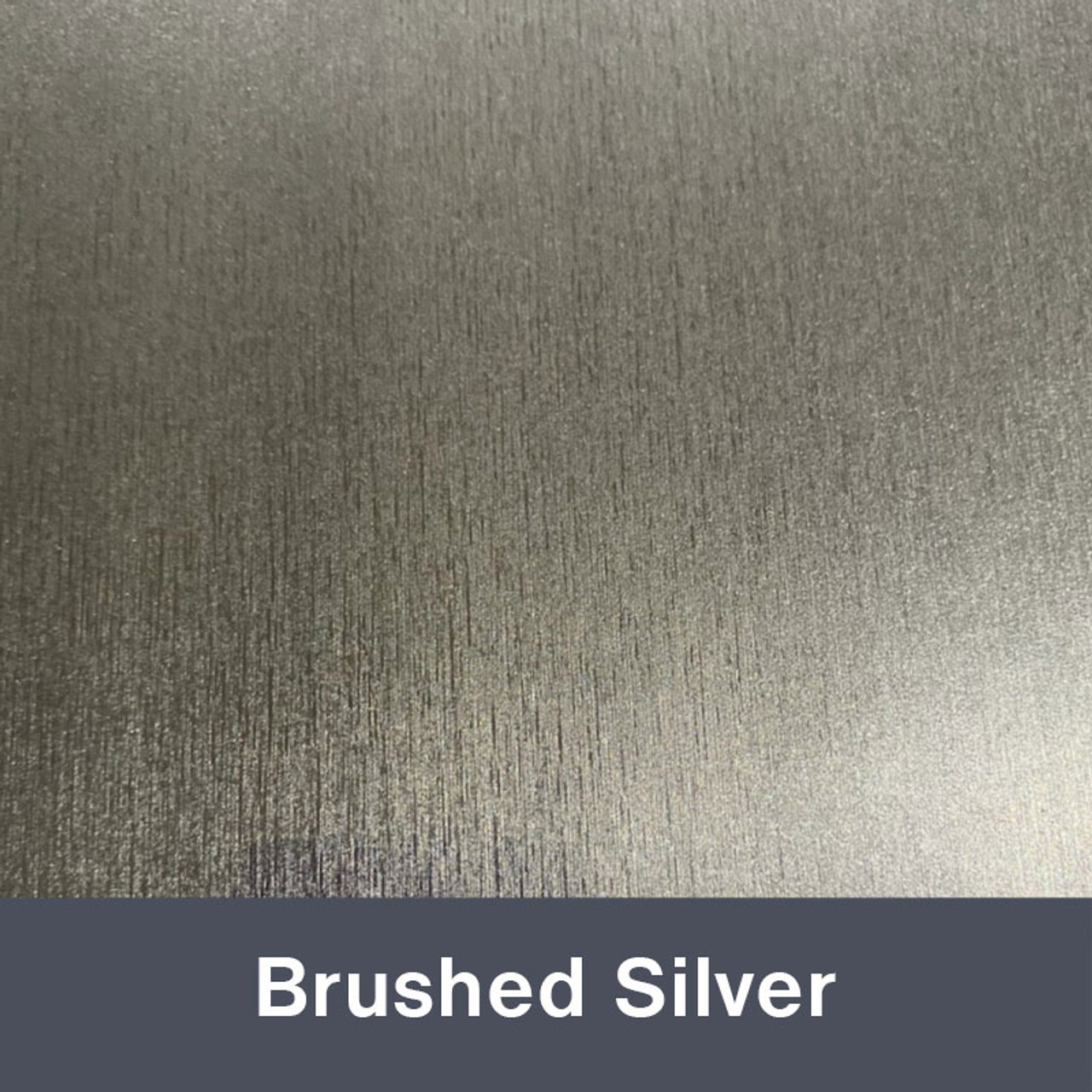 """Brushed Silver 12"""" x 24"""""""