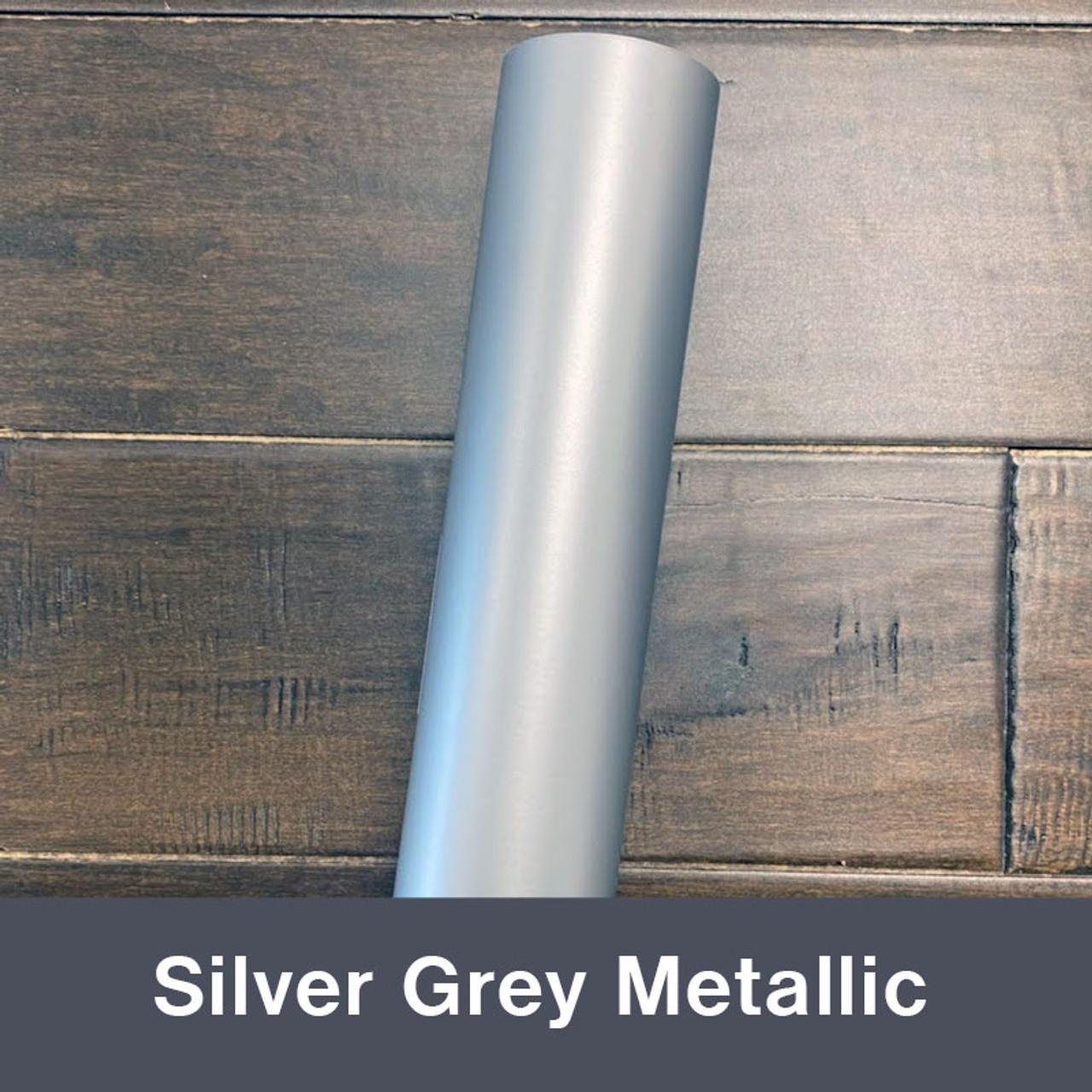 """Silver Grey Metallic (Matte) 12"""" x 5yd"""