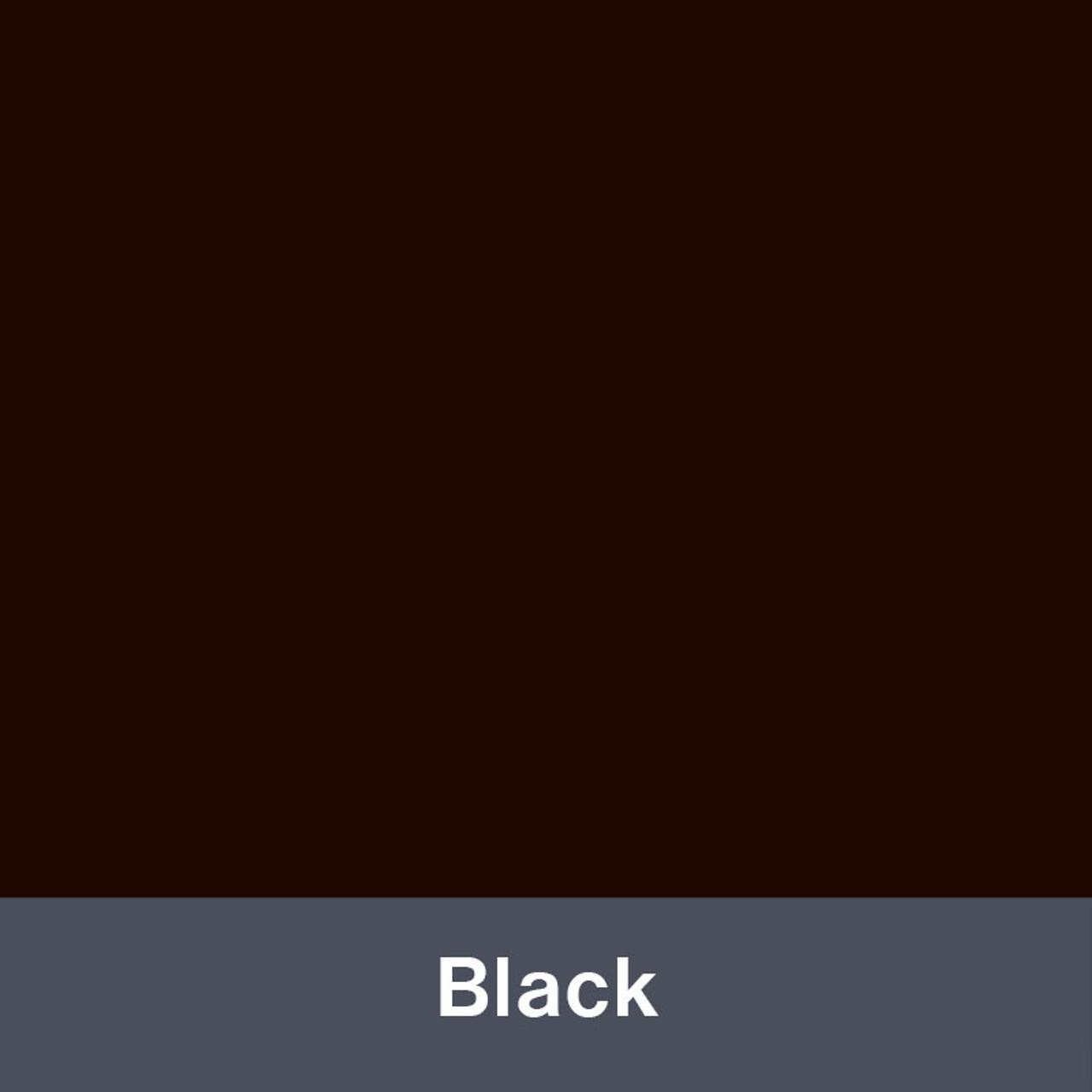 "Iron-on Black Stretch 12"" x 14.75"""