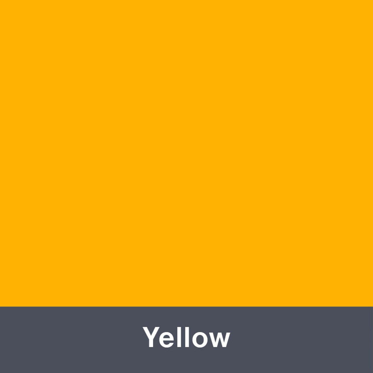 "Iron-on Yellow Stretch 12"" x 14.75"""
