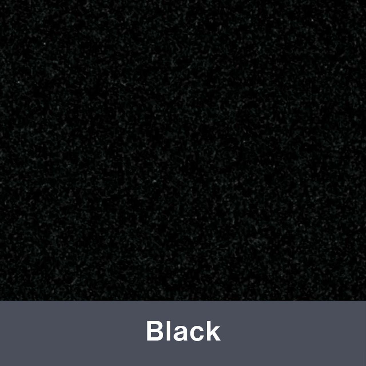 "Iron-on Black StripFlock 12"" x 14.75"""