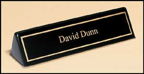 Black Piano-Finish Nameplate