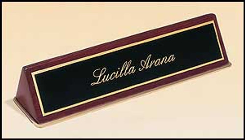 Rosewood Piano-Finish Nameplate