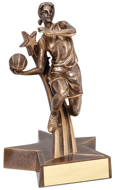 "Basketball Resin Female 6.5"" Tall"