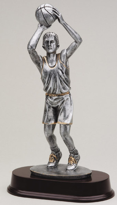 "Basketball Resin Jump Shot Male 12"" Tall"