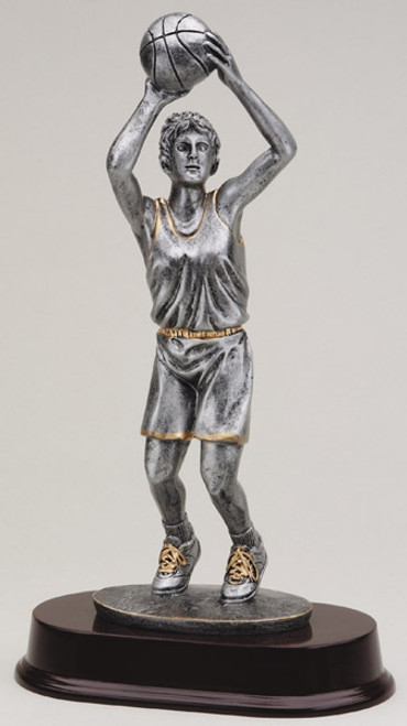 "Basketball Resin Jump Shot Female 12"" Tall"