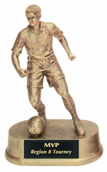 "Soccer Resin Kicking Ball Male 7.75"" Tall"