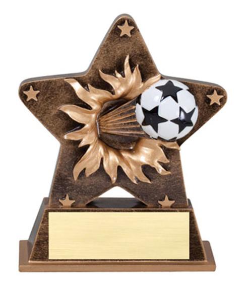 """Soccer Starburst Resin 5.5"""" Tall"""