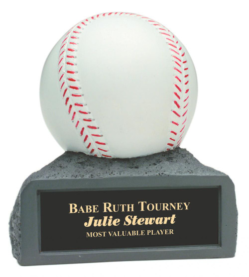 "White Baseball On Base 4"" Tall"