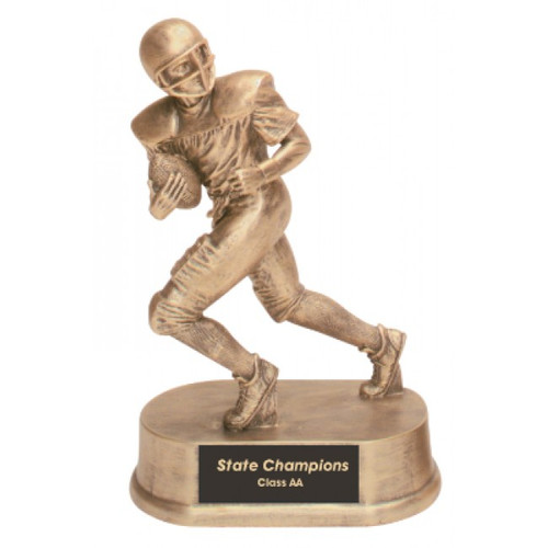 "Football Resin Running Male 7.75"" Tall"