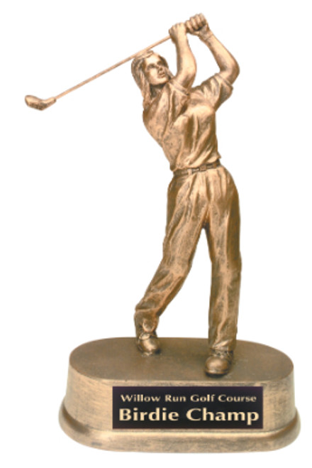 "Golf Resin Female 9"" Tall"