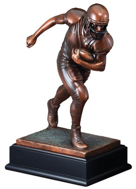 "Football Gallery Resin Sculpture 13"" Tall"