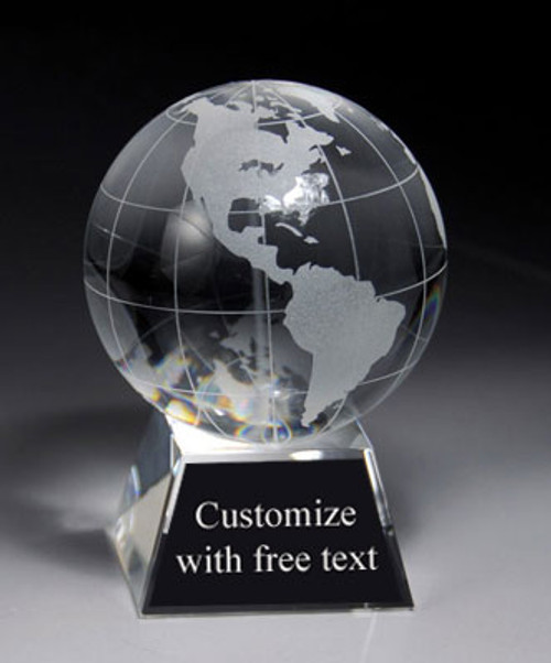 "Crystal Globe 4.5"" Tall"