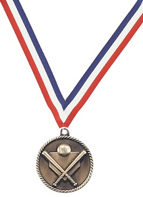 Medal with Red, White & Blue Ribbon with No Engraving