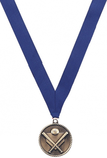 Medal with Blue Ribbon with No Engraving